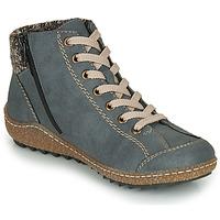 Schuhe Damen Boots Rieker L7543-14 Blau
