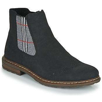 Schuhe Damen Boots Rieker 71072-02 Schwarz / Multicolor