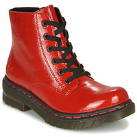 Schuhe Damen Boots Rieker 76240-33 Rot
