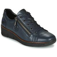 Schuhe Damen Sneaker Low Rieker 53702-14 Blau