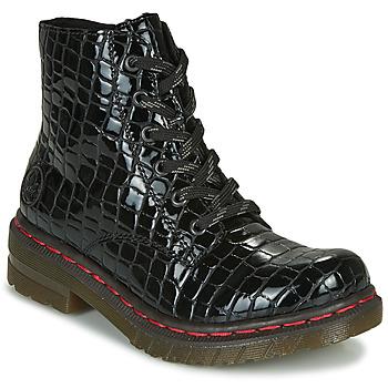 Schuhe Damen Boots Rieker 76246-00 Schwarz