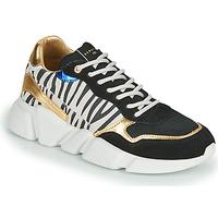 Schuhe Damen Sneaker Low Serafini OREGON Schwarz / Weiss / Gold