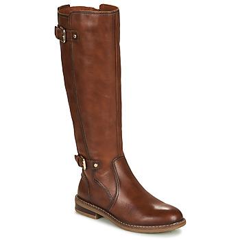 Schuhe Damen Klassische Stiefel Pikolinos ALDAYA W8J Braun