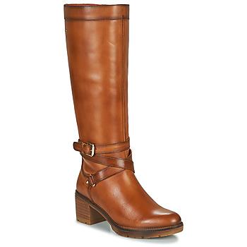 Schuhe Damen Klassische Stiefel Pikolinos LLANES W7H Braun