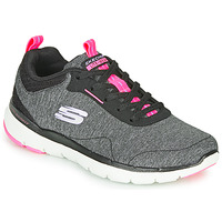 Schuhe Damen Fitness / Training Skechers FLEX APPEAL 3.0 Grau / Schwarz / Rose