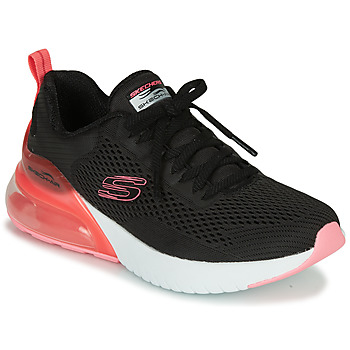 Schuhe Damen Sneaker Low Skechers SKECH-AIR Schwarz / Rose