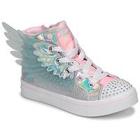 Schuhe Mädchen Sneaker High Skechers TWI-LITES 2.0 Silbern / Rose /  led