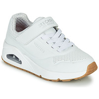 Schuhe Kinder Sneaker Low Skechers UNO Weiss