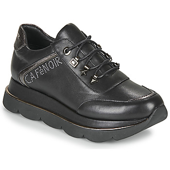 Schuhe Damen Sneaker Low Café Noir JIZELE Schwarz