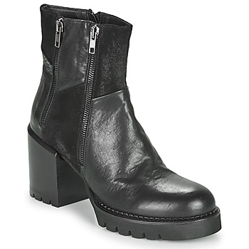 Schuhe Damen Low Boots Café Noir JOEL Schwarz