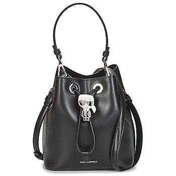 Taschen Damen Umhängetaschen Karl Lagerfeld K/IKONIK BUCKET BAG Schwarz