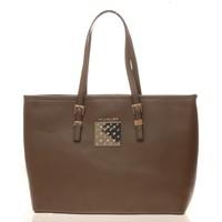Taschen Damen Shopper / Einkaufstasche Thierry Mugler Sac Eclat 5 Taupe Braun
