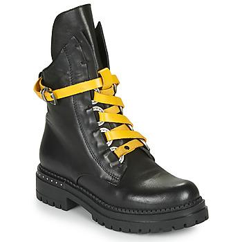 Schuhe Damen Boots Metamorf'Ose HADASSA Schwarz