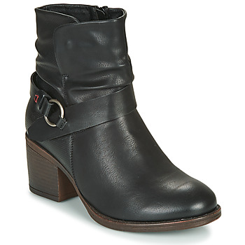 Schuhe Damen Low Boots Emmshu FLEUR Schwarz