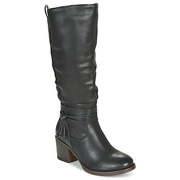 Schuhe Damen Klassische Stiefel Emmshu FILI Schwarz
