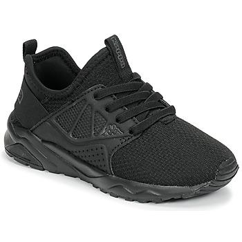Schuhe Kinder Sneaker Low Kappa SAN DIEGO ELASTIC Schwarz