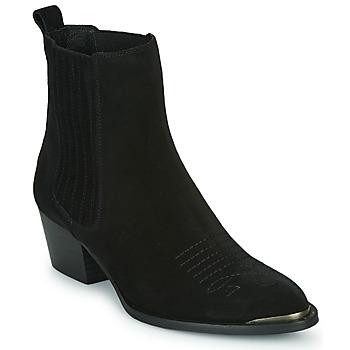 Schuhe Damen Low Boots Ikks TIAG SUEDE Schwarz