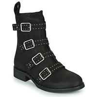 Schuhe Damen Boots Ikks URBAN RANGERS Schwarz