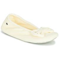 Schuhe Damen Hausschuhe Isotoner 95991 Elfenbein