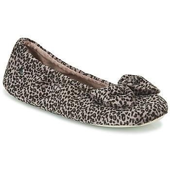 Schuhe Damen Hausschuhe Isotoner 97209 Leopard