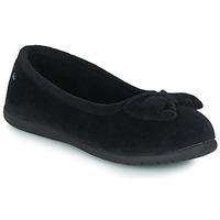 Schuhe Damen Hausschuhe Isotoner 97258 Schwarz