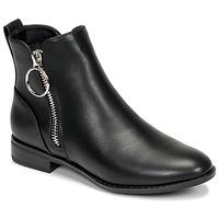 Schuhe Damen Boots Only BOBBY 22 PU ZIP BOOT Schwarz