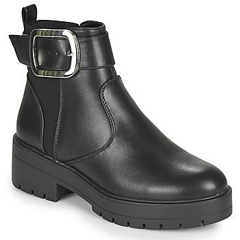 Schuhe Damen Boots Only BRANKA-5 PU BUCKLE BOOT Schwarz