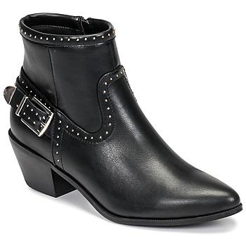 Schuhe Damen Low Boots Only TOBIO-7 PU STUD BOOT Schwarz