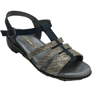 Schuhe Damen Sandalen / Sandaletten 48 Horas Damen Riemchensandalen  marinebl Blau