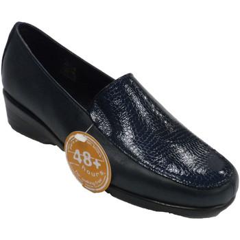 Schuhe Damen Slipper 48 Horas Frau mit geschlossenen Schuhen, die Schl Blau
