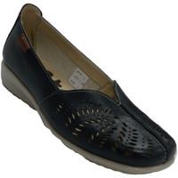 Schuhe Damen Slipper 48 Horas Frau durchbrochener geschlossener Ruhesc Blau