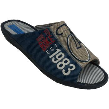 Schuhe Herren Hausschuhe Made In Spain 1940 Flip Flops Mann zu Hause sein, offene Ze Blau