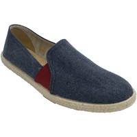 Schuhe Herren Hausschuhe Calzamur Herren Turnschuhe mit Gummibändern in Ro Blau