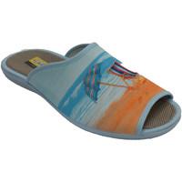Schuhe Damen Hausschuhe Aguas Nuevas Flip Flops öffnen Zehenliege und Regensc Beige