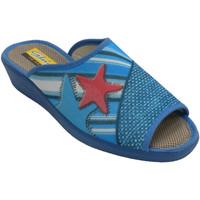 Schuhe Damen Hausschuhe Aguas Nuevas Flip Flops öffnen Zehen Seestern Seester Blau