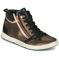 Schuhe Damen Sneaker High Pataugas JULIA/MIX F4F Rose / Gold / Schwarz