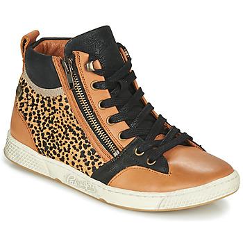 Schuhe Damen Sneaker High Pataugas JULIA/PO F4F Cognac / Leopard