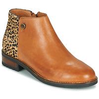 Schuhe Damen Boots Pataugas MEGAN/PO F4F Camel