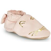 Schuhe Mädchen Hausschuhe Robeez GOLDY CAT Rose / Gold