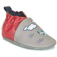 Schuhe Jungen Hausschuhe Robeez HAPPY WOLF Grau / Rot