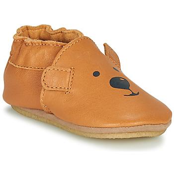 Schuhe Kinder Hausschuhe Robeez SWEETY BEAR CRP Camel