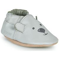 Schuhe Kinder Hausschuhe Robeez SWEETY BEAR Grau