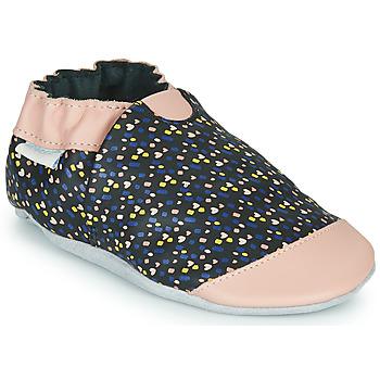 Schuhe Mädchen Hausschuhe Robeez RAINY LOVE Schwarz / Rose