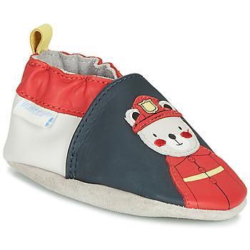 Schuhe Jungen Hausschuhe Robeez FIREMAN Marine / Rot