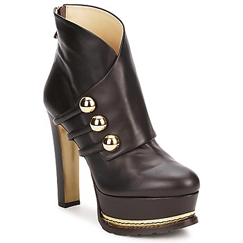 Schuhe Damen Low Boots Moschino MA2104 Dark / Braun