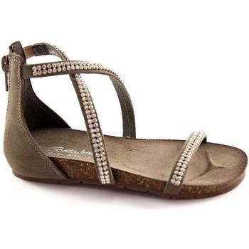 Schuhe Mädchen Sandalen / Sandaletten Bottega Artigiana Handwerksbetrieb 3977 Asche-Baby Reißverschluss Heel Sandaletten Grigio