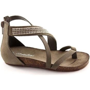 Schuhe Kinder Sandalen / Sandaletten Bottega Artigiana Handwerksbetrieb 3979 Asche-Baby Sandalen Reißverschluss Ferse R Grigio