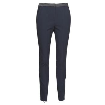Kleidung Damen 5-Pocket-Hosen Karl Lagerfeld PUNTO PANTS W/ LOGO TAPE Marine / Schwarz