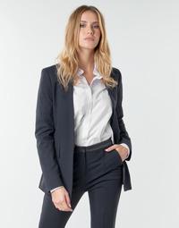 Kleidung Damen Jacken / Blazers Karl Lagerfeld PUNTO JACKET W/ SATIN LAPEL Marine / Schwarz