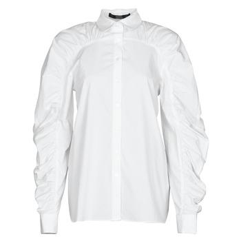 Kleidung Damen Hemden Karl Lagerfeld POPLIN BLOUSE W/ GATHERING Weiss